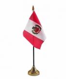 Peru versiering tafelvlag 10 x 15 cm