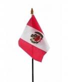 Peru vlaggetje polyester
