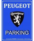 Peugeot metalen plaat voor aan de muur