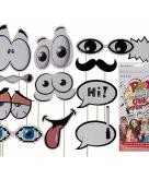 Photo booth props cartoon set van 11