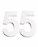 Piepschuimen cijfer 55 25 cm