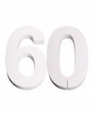 Piepschuimen cijfer 60 25 cm