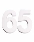 Piepschuimen cijfer 65 25 cm