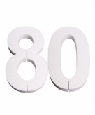 Piepschuimen cijfer 80 25 cm