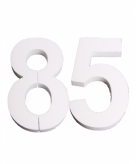 Piepschuimen cijfer 85 25 cm