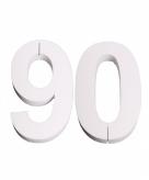 Piepschuimen cijfer 90 25 cm