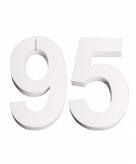 Piepschuimen cijfer 95 25 cm