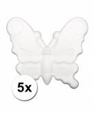 Piepschuimen vlinder 5x 12 5 cm