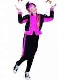 Pieten outfit fuchsia zwart voor meisjes