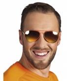 Piloten bril oranje spiegelglas