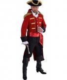 Piraat verkleed jas rood voor heren