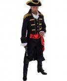 Piraat verkleed jas zwart voor heren