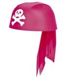 Piraten bandana hoed in het roze