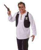 Piraten jasje zonder mouwen zwart