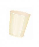 Plastic bekers beige 10 stuks