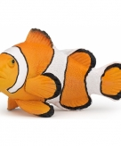 Plastic clown vis oranje 6 cm