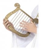Plastic gouden harp