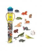 Plastic huisdiertjes 12 stuks