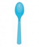 Plastic lepels turquoise 10 stuks