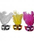 Plastic metallic oogmasker gekleurd
