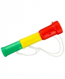 Plastic toetertje rood geel groen 20 cm