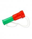 Plastic toetertje rood groen 15 cm