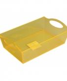 Plastic tray schaal geel 26 cm