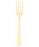 Plastic vorken beige 10 stuks