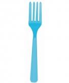 Plastic vorken turquoise 10 stuks