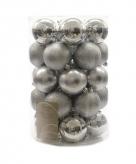 Plastic zilveren kerstballen 34x
