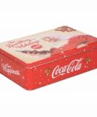 Plat bewaarblik coca cola 23 cm
