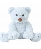 Pluche babyblauwe knuffelbeer boogy 24 cm