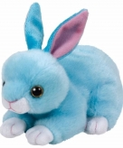 Pluche blauw konijnen hazen ty beanie classic jumper 33 cm