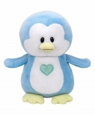 Pluche blauwe pinguin ty beanie baby twinkles 17 cm