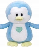 Pluche blauwe pinguin ty beanie baby twinkles 24 cm