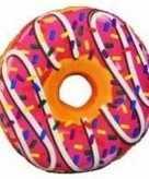 Pluche donut kussen roze 38 cm