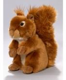 Pluche eekhoorn knuffel zittend 23cm