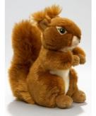 Pluche eekhoorn knuffeldier zittend liggend 17cm