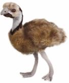 Pluche emoe grijs bruin 44 cm