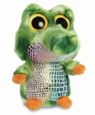 Pluche groene krokodillen knuffeldier 20 cm