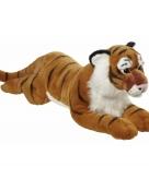 Pluche grote tijger knuffel liggend 70cm