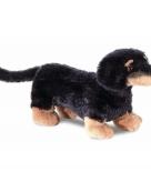 Pluche honden knuffeldier teckel 20 cm