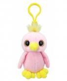 Pluche knuffel papegaai sleutelhanger 9 cm