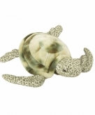 Pluche liggende zeeschildpad knuffeldier 35 cm