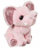 Pluche olifant knuffeldier roze 18 cm
