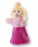 Pluche prinsesen handpop 30 cm