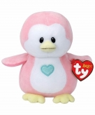 Pluche roze pinguin ty beanie baby penny 17 cm