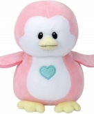 Pluche roze pinguin ty beanie baby penny 24 cm