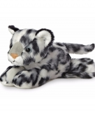 Pluche wit luipaard knuffeldier 20 cm