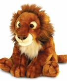 Pluche zittende afrikaanse leeuw 50 cm